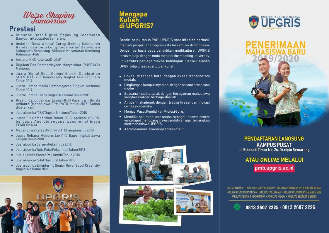 info PMB UPGRIS 2019